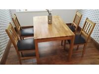 Dining Table With 4 Chairs Solid Oak