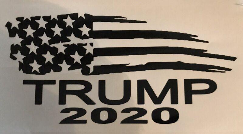 President Donald Trump Flag 2020 Vinyl Decal Sticker Car Truck