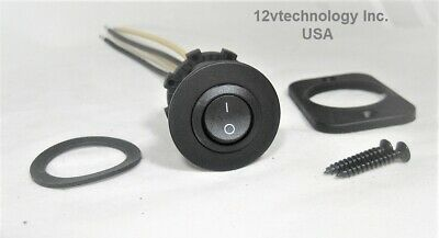 Round Dpst Toggle Rocker Switch Panel Mount 12v Round Dual Off-on Dashboard