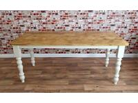 Reclaimed Rustic Farmhouse Pine Kitchen Dining Tables Wood Timber