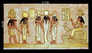 RELIEF FLACHRELIEF Ägyptischer Agypten gips Skulptur Wandrelief ANTIK BILD DEKO - Zielona Góra, LUBUSKIE, Polska - Zwroty są przyjmowane - Zielona Góra, LUBUSKIE, Polska