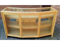 SOLID WOOD SHOP COUNTER DISPLAY CABINET