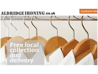 Aldridge Ironing services, established 1999. Guildford and Woking. Free collection and delivery.