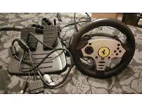 PS2/Xbox/Gamecube   Ferrari Thrust master steering wheel and pedals.
