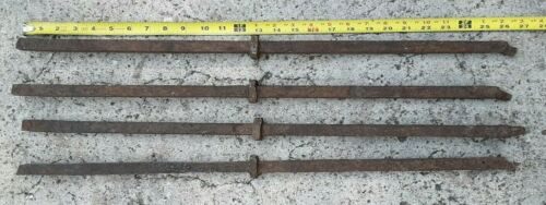 """4 Reclaimed Wrought Iron Steel Baluster Pieces 26"""" Long Hand Hammered Knuckle"""