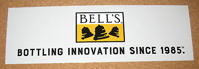 BELL'S Brewery Bumper Sticker Beer Logo Advertising NEW Light Gray Innovation