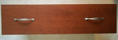 """Set of Four Large Cherry Cabinet Drawers 36"""" x 9 1/2"""" x 18"""" Deep with Hardware"""