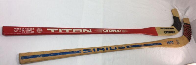 Vintage Floorball Sticks TITAN CATAPULT SIRIUS PRIMA GODKAND BANDYKLUBBA hockey!
