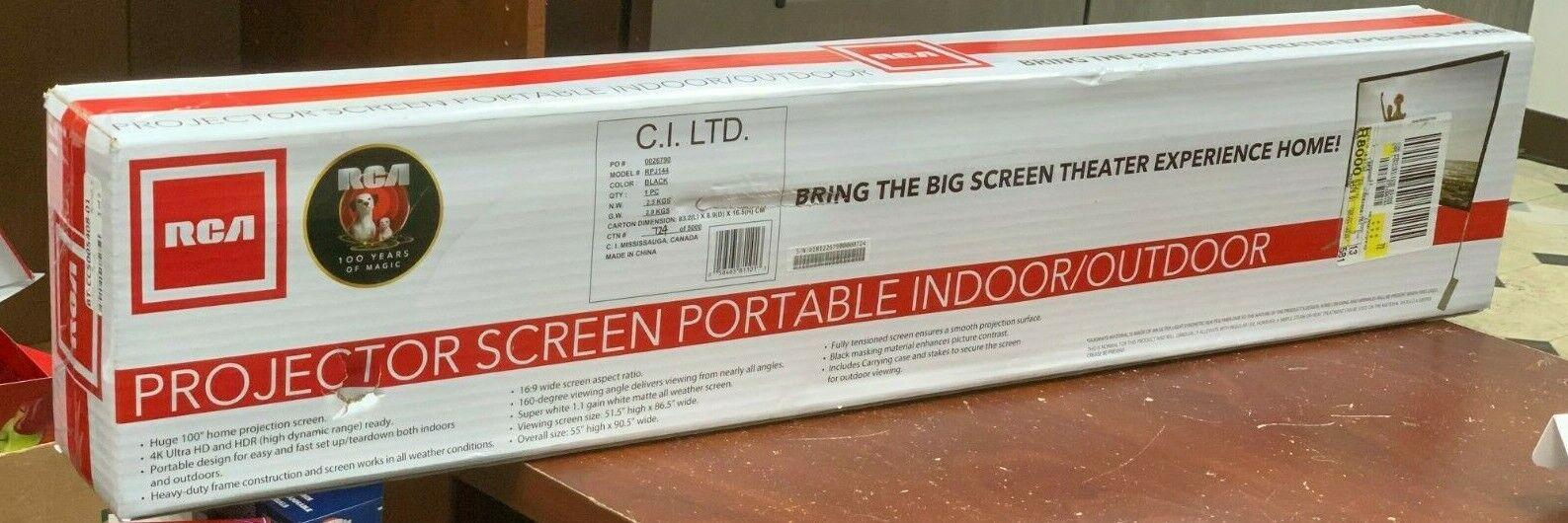 indoor outdoor 100 diagonal portable projector screen