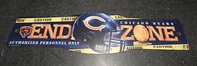 Chicago Bears End Zone NFL Football Plastic Street Sign Man cave - Mens Chicago Bears End