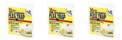3 pack of 3 - Victor M231 Refill Discs fits the M230 Ultimate Flea Trap Catcher