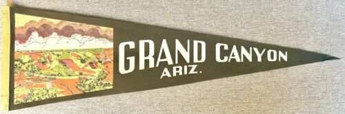 Vintage Grand Canyon Ariz. Arizona AZ Felt Pennant Souvenir