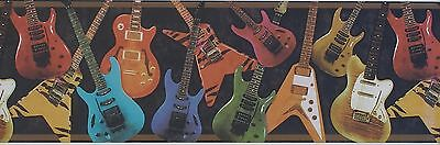 ELECTRIC GUITAR WALL BORDER, ROCK & ROLL, MUSIC WK9052B, 9