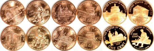Complete Set Lincoln Bicentennial 2009 Cent Penny P&D&Proof 12 UNC. Coins  K9807