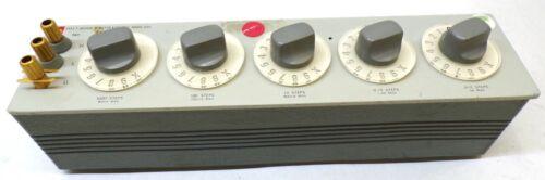 GENERAL RADIO, DECADE RESISTOR, 1433-T, 5 KNOB