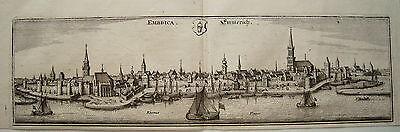 Emmerich Nordrhein-Westfalen echter  alter Merian Kupferstich 1647