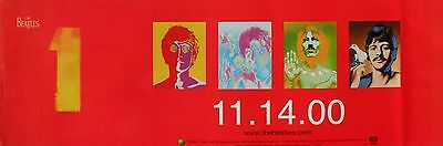 "BEATLES ""1's 11-14-00"" CANADA PROMO BANNER / POSTER - 4 Avedon Psychedelic Faces for sale  Shipping to India"