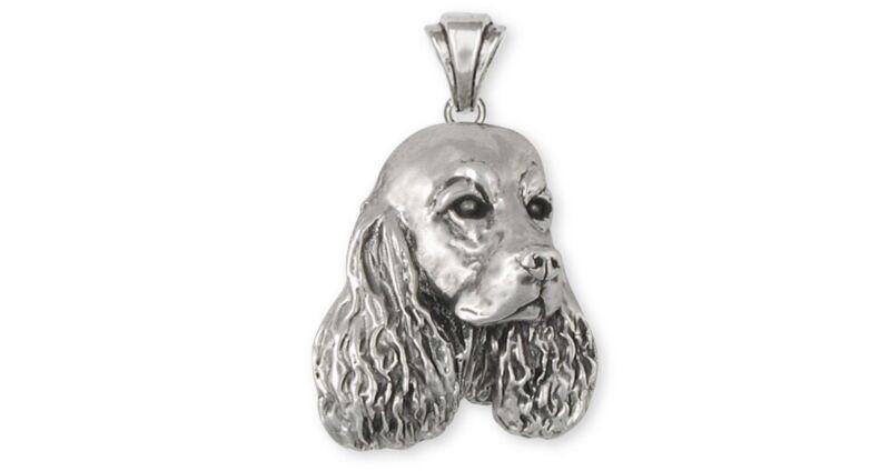 Springer Spaniel Pendant Jewelry Sterling Silver Handmade Dog Pendant SS1-P