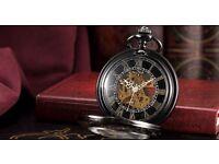 Brand new Skeleton Mechanical Open Face Retro Vintage Pendant Pocket Watch