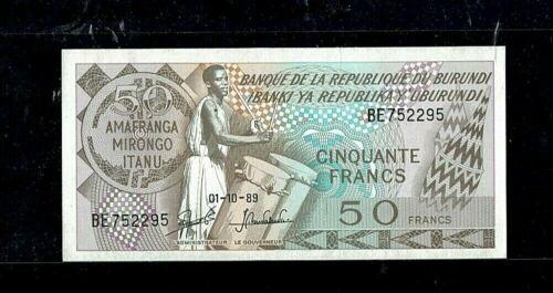 BURUNDI | 50 Francs | 1989 | UNC