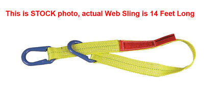 Liftall Uu1804dx14 Polyester Web Sling Type Uu 1-ply 4 X 14 Feet