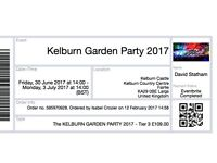 *Kelburn Garden Party 2017* - Tier 3 ticket (inc. extra access to 'Lovely Loos & Showers')