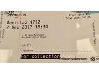 Gorillaz - 2 standing tickets - 2nd December Arena Birmingham