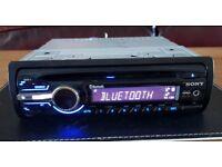 CAR HEAD UNIT SONY XPLOD BT2800 MP3 CD PLAYER WITH BLUETOOTH AUX 4x 52 AMPLIFIER AMP STEREO RADIO BT