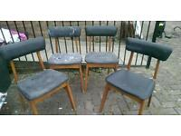 Retro vintage chairs for an upcycle x 4