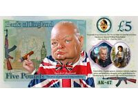 Collectable Artist's Impression £5 Five Pound Notes
