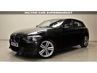 BMW 1 SERIES 2.0 116D M SPORT 5d 114 BHP + 1 PREVIOUS OWNER + AUX + MP3/CD (black) 2013