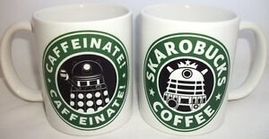 Doctor Who Dalek Skarobucks Tea Coffee Mug