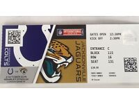 1x NFL international Series tickets Colts v Jags
