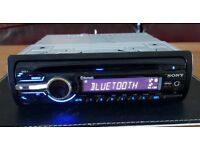 CAR HEAD UNIT SONY XPLOD BT2800 MP3 CD PLAYER WITH BLUETOOTH AUX 4x 52 AMPLIFIER AMP STEREO RADIO BT