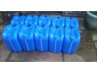 Water Barrels, Drums - 20 Litre, Jet Washing, Greenhouse, Allotment, Diesel, Heating Oil