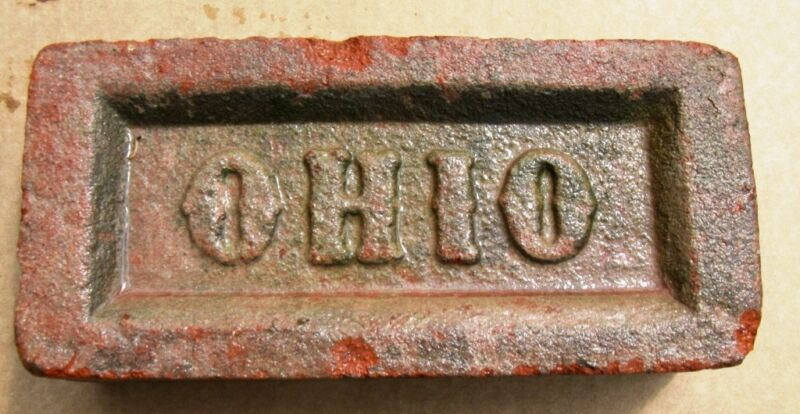 OLD COLLECTIBLE OHIO BRICK~ GO BUCKEYES ~ AUTHENTIC CLASSIC ORIGINAL OHIO BRICKS