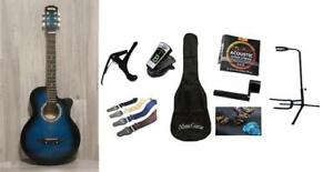Christmas Gift ! Free Full Package Acoustic Guitar For Kids, Chidren 38 inch iMusic806 Blue