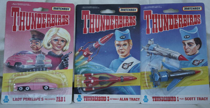 Thunderbirds Matchbox Thunderbird 1 3 and FAB 1. 3 models for sale  Abbeymead, Gloucestershire