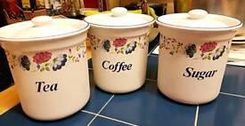 Coffee, Sugar & Tea Jars Set