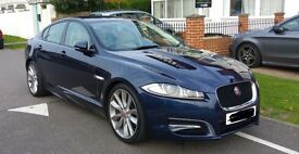 Stunning Azure Blue Jaguar XF Portfolio - 1 year official Jag Warranty - Ivory Cream Leather