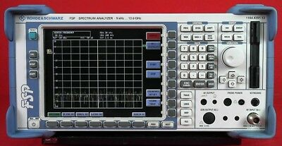 Rohde Schwarz Fsp13 Spectrum Analyzer9 Khz To 13ghz 100724 W Options