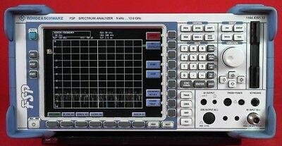 Rohde Schwarz Fsp13 Spectrum Analyzer9 Khz To 13ghz 100724 W Options