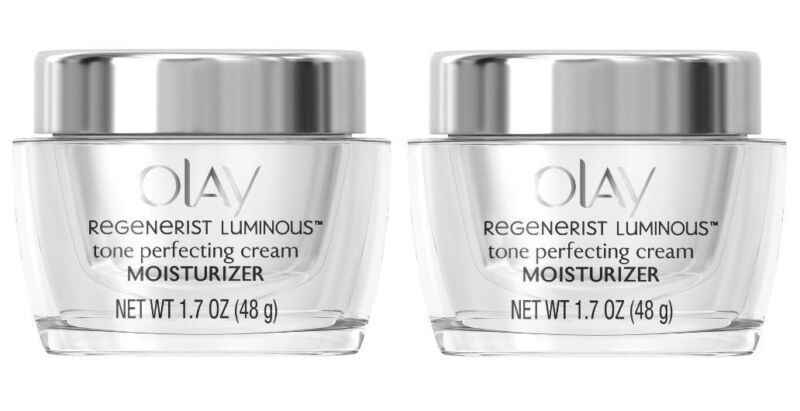 OLAY Regenerist Luminous Tone Perfecting Cream, 1.7 oz (Pack of 2)