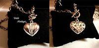 Collana Vintage Lega Argento-platino,brillanti Sul Centrale A Cuore:bellissima -  - ebay.it