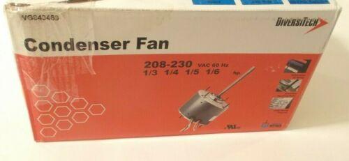 DIVERSITECH WG840469 Condenser Fan Motor (1/3 to 1/6 HP) 208-230 VAC - 2 Speed
