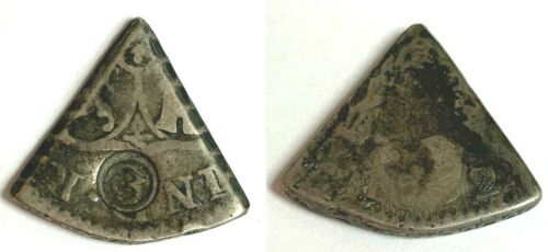 1818 Curacao Silver 3 Reaal Countermarked 3 on 5th Spanish Colonial 8 Reales