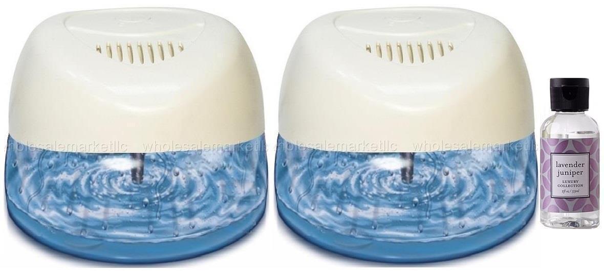 2 White Air Purifiers w/ Rainbow Rainmate Lavender Fragrance /Asthma Allergies