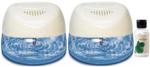 2 White Air Purifiers w/ Rainbow Rainmate Eucalyptus Fragrance /Asthma Allergies