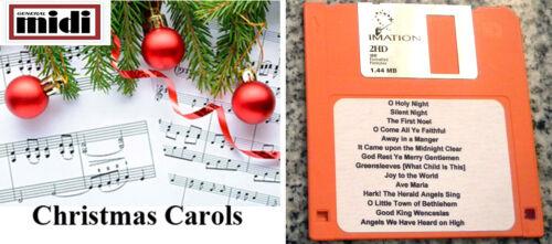 Christmas Carols for MIDI Piano players with Floppy Disk, Kurzweil Kohler & More