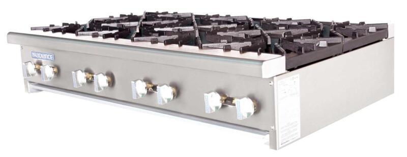 "Radiance Tahp-48-8 48"" Counter Top 8 Burner Gas Commercial Hotplate 256,000 Btu"